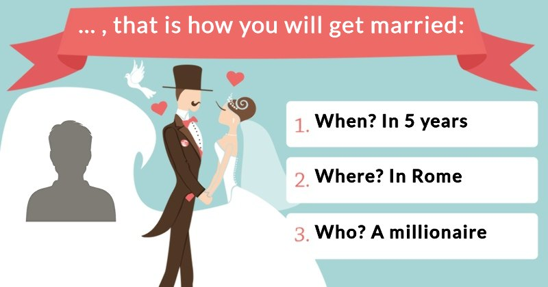 How Will You Get Married