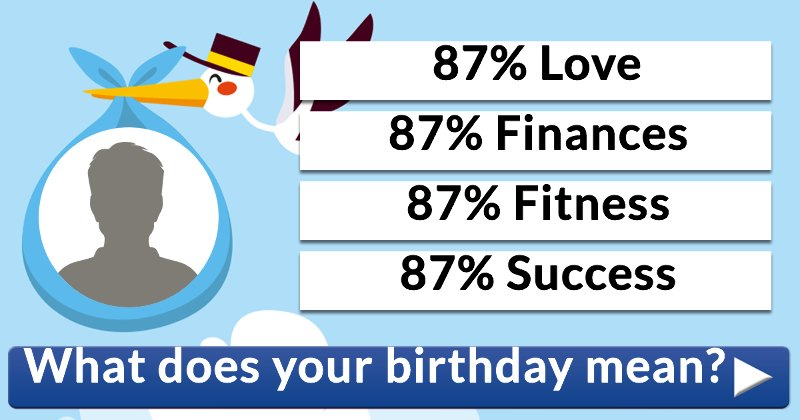 What Does Your Birthday Mean