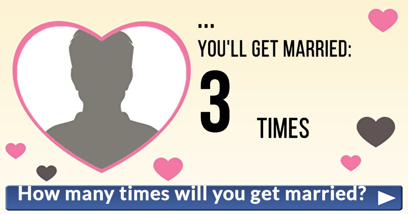 How Many Times Will You Get Married