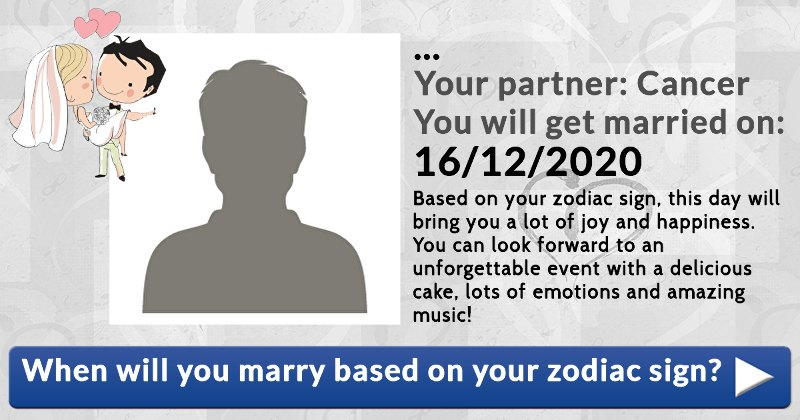 When Will You Marry Based On Your Zodiac Sign