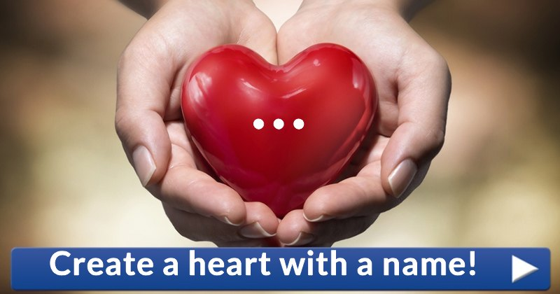 images for create a heart with names