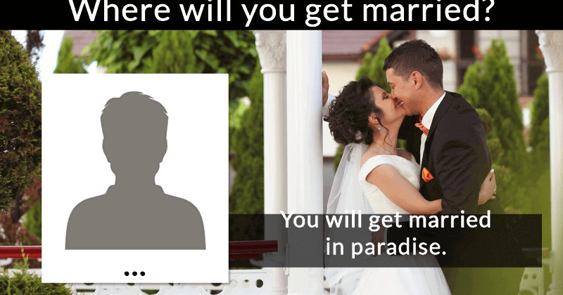 Where Will You Get Married